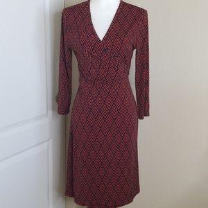 Banana Republic wrap dress with long sleeves | M